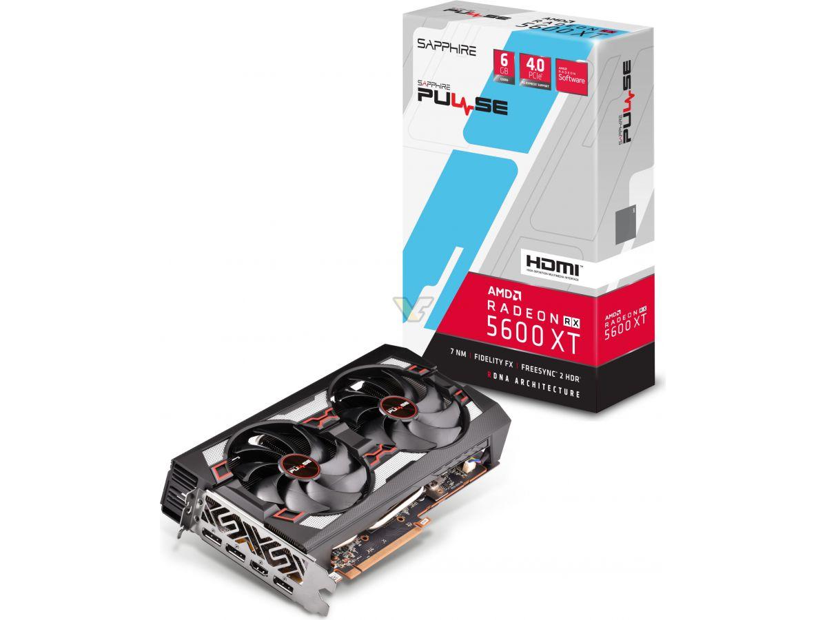SAPPHIRE, AMD, PULSE, RADEON, RX, 5600, XT, 6gb, GDDR6, HDMI, /, TRIPLE, DP, OC, W/BP, (UEFI),