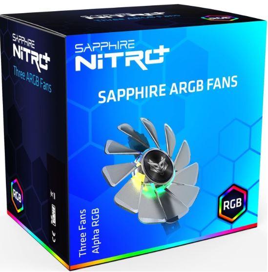 SAPPHIRE, GEAR, ARGB, FAN, (3, IN, 1), FOR, NITRO+, RX, 5700, SERIES, LITE,