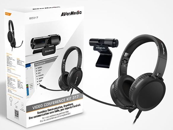 AVerMedia, AH313, Podcast, Conference, Kit, CAM313, Live, Stream, @, 1080P, +, AH313, High, Quality, Headset, w/, Mic., Teams, Skype, H,