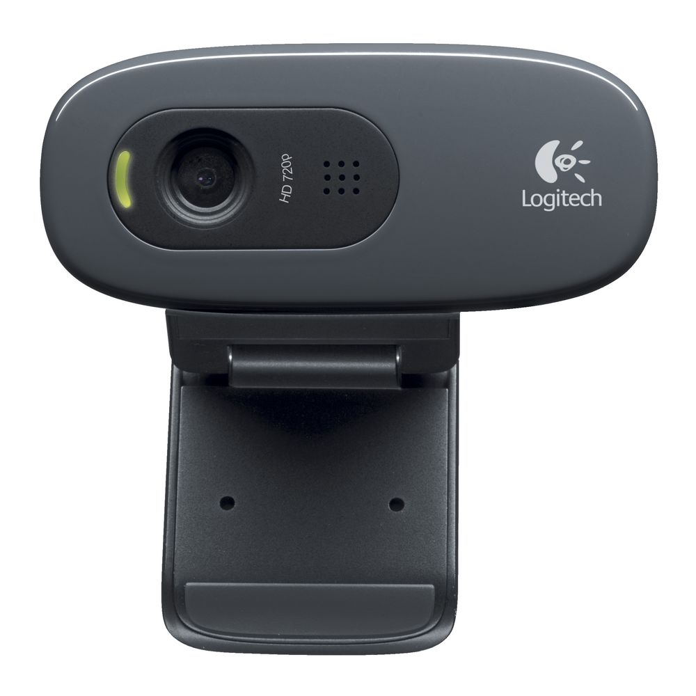 Logitech, C270, 3MP, HD, Webcam, 720p/Built, in, Mic/Light, Correc/IM, compatibility, u,