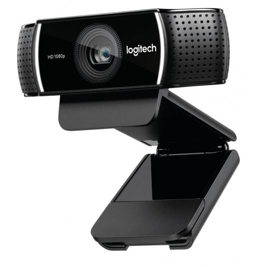 Logitech, C922, Pro, Stream, Full, HD, Webcam, 30fps, at, 1080p, Autofocus, Light, Correction, 2, Stereo, Microphones, 78°, FoV, 3mths, XS,