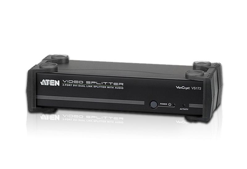 Aten, (VS172), 2, Port, DVI, Dual, Link, Splitter, with, Audio,