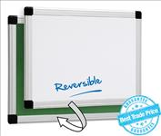 Visionchart, 900, x, 600mm, Reversible, whiteboard, inboard,