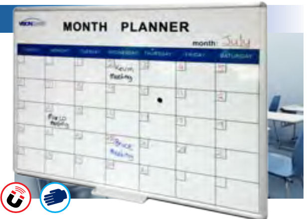 Visionchart, Deluxe, Perpetual, Month, Planner, 1200, x, 900mm,