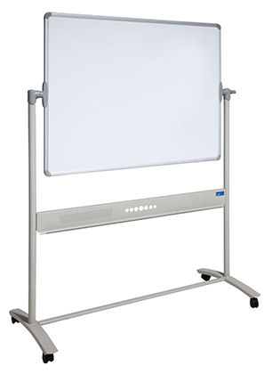 Visionchart, 1800, x, 1200mm, Mobile, Revolving, Whiteboard,