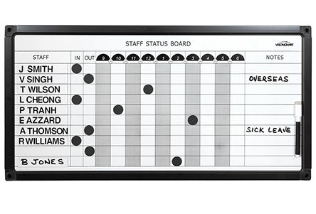 Visionchart, Staff, Status, board, 737, x, 615mm,